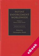 Cover of Patent Enforcement Worldwide: Writings in Honour of Dieter Stauder (eBook)