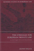 Cover of The Struggle for European Private Law: A Critique of Codification
