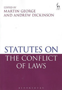 Cover of Statutes on the Conflict of Laws