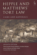 Cover of Hepple and Matthews' Tort Law Cases & Materials