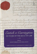 Cover of Entick v Carrington: 250 Years of the Rule of Law
