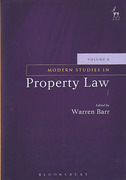 Cover of Modern Studies in Property Law: Volume 8