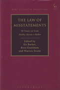 Cover of The Law of Misstatements: 50 Years On from Hedley Byrne v Heller