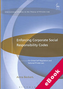 Cover of Enforcing Corporate Social Responsibility Codes: On Global Self-Regulation and National Private Law (eBook)