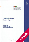 Cover of The Unitary EU Patent System (eBook)