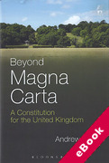 Cover of Beyond Magna Carta: A Constitution for the United Kingdom (eBook)