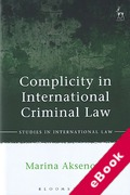 Cover of Complicity in International Criminal Law (eBook)