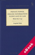 Cover of Private Power, Online Information Flows and EU Law: Mind the Gap (eBook)