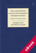 Cover of The Competitive Effects of Minority Shareholdings: Legal and Economic Issues (eBook)