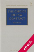 Cover of The Choice of Law Contract (eBook)