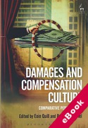 Cover of Damages and Compensation Culture: Comparative Perspectives (eBook)