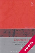 Cover of Contract Law: An Introduction to the English Law of Contract for the Civil Lawyer (eBook)