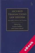 Cover of Secured Transactions Law Reform: Principles, Policies and Practice (eBook)