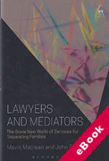 Cover of Lawyers and Mediators: The Brave New World of Services for Separating Families (eBook)
