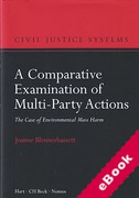 Cover of A Comparative Examination of Multi-Party Actions: The Case of Environmental Mass Harm (eBook)