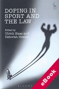 Cover of Doping in Sport and the Law (eBook)