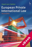 Cover of European Private International Law (eBook)