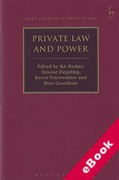 Cover of Private Law and Power (eBook)