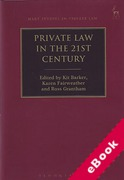 Cover of Private Law in the 21st Century (eBook)