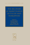 Cover of Recovery of Maintenance in the EU and Worldwide
