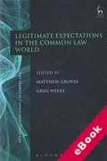 Cover of Legitimate Expectations in the Common Law World (eBook)