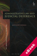 Cover of Administrative Law and Judicial Deference (eBook)