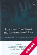 Cover of Economic Sanctions and International Law (eBook)