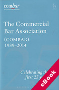 Cover of Commercial Bar Association (COMBAR) 1989-2014: Celebrating the First 25 Years (eBook)
