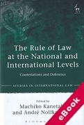 Cover of The Rule of Law at the National and International Levels: Contestations and Deference (eBook)