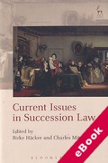 Cover of Current Issues in Succession Law (eBook)