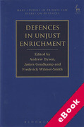 Cover of Defences in Unjust Enrichment (eBook)