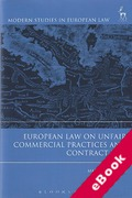 Cover of European Law on Unfair Commercial Practices and Contract Law (eBook)