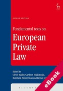 Cover of Fundamental Texts on European Private Law (eBook)
