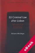 Cover of EU Criminal Law after Lisbon: Rights, Trust and the Transformation of Justice in Europe (eBook)