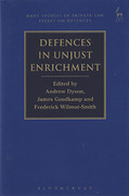 Cover of Defences in Unjust Enrichment
