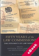 Cover of Fifty Years of the Law Commissions: The Dynamics of Law Reform (eBook)