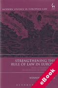 Cover of Strengthening the Rule of Law in Europe: From a Common Concept to Mechanisms of Implementation (eBook)