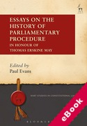 Cover of Essays on the History of Parliamentary Procedure: In Honour of Thomas Erskine May (eBook)