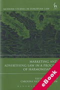 Cover of Marketing and Advertising Law in a Process of Harmonization (eBook)