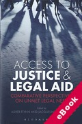 Cover of Access to Justice and Legal Aid: Comparative Perspectives on Unmet Legal Need (eBook)