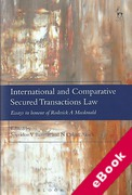 Cover of International and Comparative Secured Transactions Law: Essays in honour of Roderick A Macdonald (eBook)