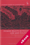 Cover of Human Rights Between Law and Politics: The Margin of Appreciation in Post-National Contexts (eBook)