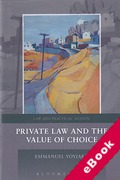 Cover of Private Law and the Value of Choice (eBook)