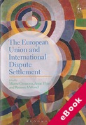 Cover of The European Union and International Dispute Settlement (eBook)