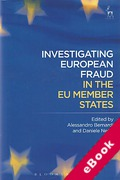 Cover of Investigating European Fraud in the EU Member States (eBook)