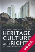 Cover of Heritage, Culture and Rights: Challenging Legal Discourses (eBook)