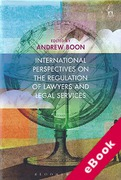 Cover of International Perspectives on the Regulation of Lawyers and Legal Services (eBook)