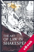 Cover of The Art of Law in Shakespeare (eBook)