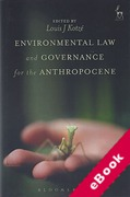 Cover of Environmental Law and Governance for the Anthropocene (eBook)