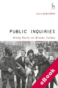 Cover of Public Inquiries: Wrong Route on Bloody Sunday (eBook)